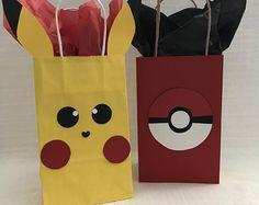 Pokemon Pikachu & Pokeball Party Favor bags/ Printable