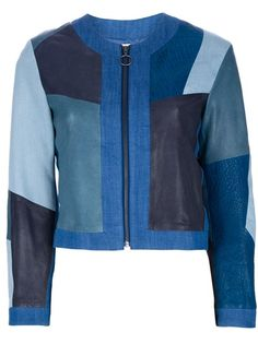 Mih Jeans - paneled leather jacket