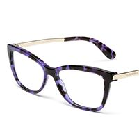 Women's purple eyeglasses with square frame Dolce