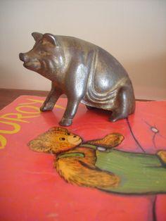 Cast Iron Old Piggy Bank