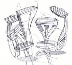 MONDO SKETCHES Sketches of Mens Razors by Spencer Nugent