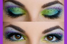 peacock makeup - for eyes with a tiny bit of lid, like mine.