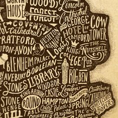 Great Little Place - Britain & Ireland Lettering Map on Typography Served