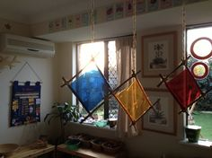 """Beautiful light catchers hanging from garden twine - from This Little Family Daycare ("""",)"""