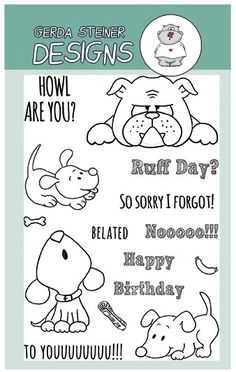 These little puppies can't wait to create the next card with you. Even that bulldog looks a little annoyed, he just has a Ruff day! It's also a perfect set, if you had forgotten to send that birthday