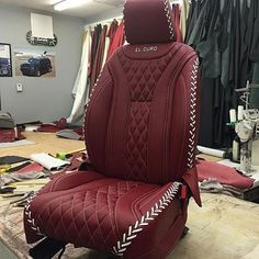 car auto seats diamond stitch pattern baseball custom leather