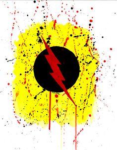 Reverse Flash Professor Zoom symbol print by mmmmmmPaintings