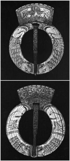 Clasp. Italian (Sicilian). Medieval - mid-13th century. Ivory or bone.