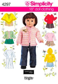 Need matching pre-teen Chanel style jacket for Naya. Simplcity 4297 Doll Clothes  18 inch Doll Clothes