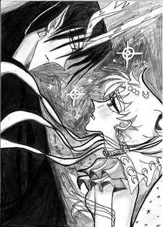 Usagi and Prince of Darkness in Selenit Saturn Season 1 #animes #nakamastore.com #manga #shonen #animegoods  #otaku