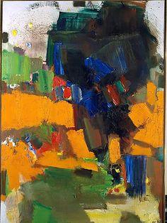 Hans Hoffman, Deep within the ravine. on ArtStack #hans-hoffman #art