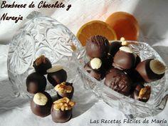 Bombones de Chocolate y Naranja presentación