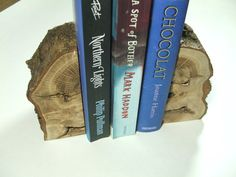 Rustic Bookends handcrafted Natural Oak Log by StairLodgeSupplies, £14.00