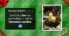 Keep #FirePrevention in mind this #holiday season. Be smart and remember to leave a candle unattended. #StaySafe #FireSafety #ADT #HolidaySafety