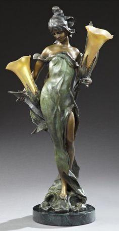 Bijoux Art Nouveau, Art Nouveau Jewelry, Pop Art, Art Sculpture, Sculptures, Muebles Estilo Art Nouveau, Objets Antiques, Design Art Nouveau, Lampe Art Deco