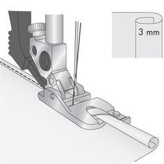 Pfaff - 3mm Rolled Hem Foot for IDT™ System