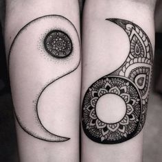 Tattoo couple mandala yin yang 61 ideas for 2019 Yin Yang Tattoos, Yin Yang Tattoo Meaning, Tattoos With Meaning, Trendy Tattoos, Popular Tattoos, New Tattoos, Tattoos For Guys, Spiral Tattoos, Future Tattoos