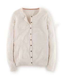 Cashmere Crew Neck Cardigan WK961 Cardigans at Boden