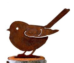 Elegant Garden Design Baby Fat Chickadee Steel Silhouette with Rusty Patina ** Learn more by visiting the image link.(This is an Amazon affiliate link and I receive a commission for the sales)