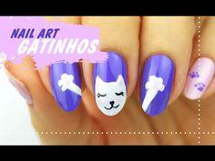Unhas Decoradas GATINHOS - TUTORIAL (Nail Art)