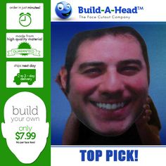 Customizable head cut-outs. Perfect for parties, sporting events, and graduations. Only at BuildAHead.com!