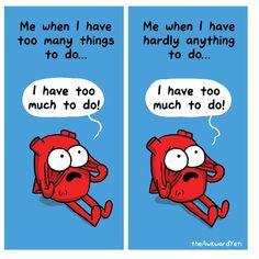 the Awkward Yeti (Nick Seluk) ( Akward Yeti, The Awkward Yeti, Funny Cartoons, Funny Memes, Hilarious, Heart And Brain Comic, Bad Puns, Medical Humor, Fun Comics