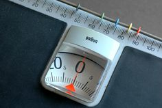 A real Braun rarity: HW 1 bathroom scales designed by Dieter Rams in 1968