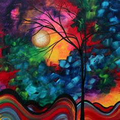 Abstract Landscape.    Megan Duncanson painting