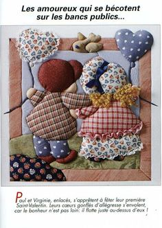 It's a Writer's Thing: Patchwork Writing Sewing Appliques, Applique Patterns, Applique Quilts, Applique Designs, Quilting Designs, Quilt Patterns, Sunbonnet Sue, Patchwork Baby, Patchwork Pillow