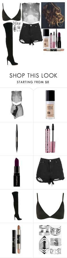 """""""Untitled #6658"""" by kimboloveniallhoran ❤ liked on Polyvore featuring Fannie Schiavoni, MAKE UP FOR EVER, tarte, Barry M, Smashbox, Boohoo, Gianvito Rossi, Topshop, GURU and Lancôme"""