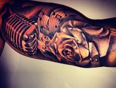 Fazer unveils new tattoo sleeve with rose and microphone - 15.1.2014