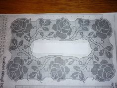 Filet Crochet, Thread Crochet, Crochet Tablecloth, Crochet Doilies, Crochet Lace, Crochet Stitches Patterns, Doily Patterns, Stitch Patterns, Cross Stitch Rose