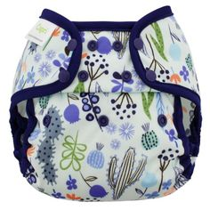 Blueberry Capri Diaper Cover (Snaps) Size 2