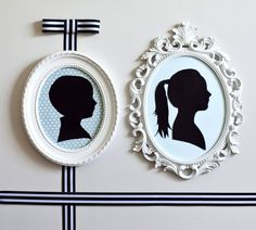 DIY: Simple Silhouettes - what a fun craft to do each year!