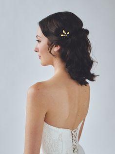 Gouden kleine bruiloft haren kammen Gouden door DavieandChiyo