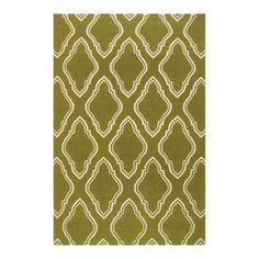 """Add a pop of pattern to your living room or den with this lovely wool rug, showcasing a diamond-inspired motif in avocado.   Product: RugConstruction Material: 100% WoolColor: Beige and oliveFeatures:  Hand-wovenMade in IndiaFlat pile No shedding Reversible to same design Designed by Jill Rosenwald  Pile Height: 0.157""""Note: Please be aware that actual colors may vary from those shown on your screen. Accent rugs may also not show the entire pattern that the corresponding area rugs ..."""