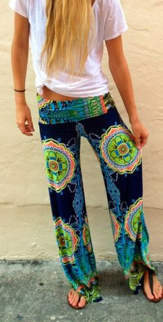 Colorful exumas pants fashion I have a pair of palazzos in bright orange and they are awesome. I add a fitted tank and flips and it's a GO.