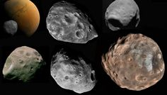The many faces of Mars inner moon, Phobos (Credit: NASA) Earth And Space Science, Earth From Space, Mars Facts, Universe Today, Next Generation Science Standards, Mission To Mars, Our Solar System, Space Exploration, The Martian