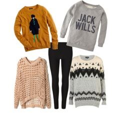 sweaters and leggings