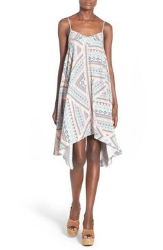 devlin 'Tracy' Geo Print Handkerchief High/Low Dress available at #Nordstrom