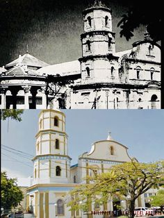 Dito, Noon: Immaculate  Conception Metropolitan Cathedral, Roxas, 1920s x 2019. #kasaysayan Immaculate Conception, Present Day, Sick, Cathedral, Mansions, House Styles, Building, Travel, Viajes