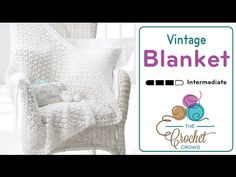 Learn how to crochet this vintage looking baby blanket. It's featuring the Trellis Cluster Stitch. Get the free pattern and more info at http://thecrochetcro...