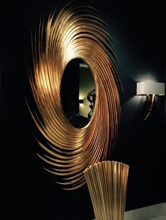 I can't believe my eyes! Is this #golden #swirl #mirror sent from #design heaven? I think SO! #InsideStyle #LVMKT