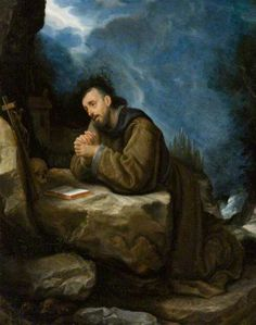 Saint Francis in Prayer by Cristofano Allori, oil on copper (Ulster Museum) ~ I wonder if this is Francis de Xavier.