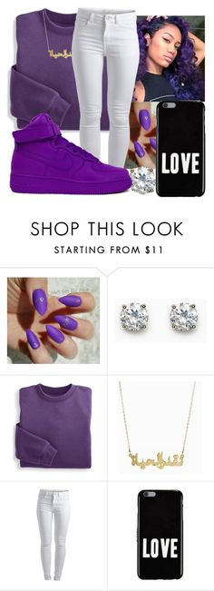 """""""party so petty"""" by theyenvy-jorii ❤ liked on Polyvore featuring Blair, Pieces, NIKE and Givenchy"""