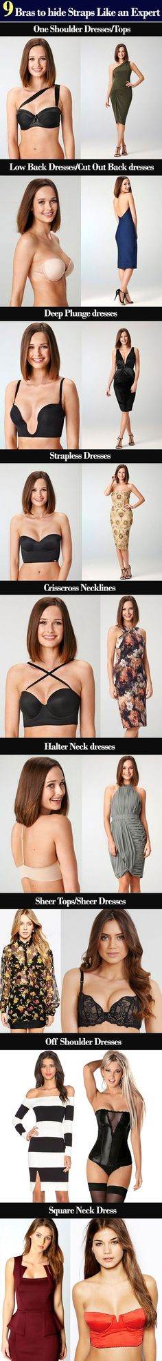 Fashion infographic : Fashion infographic : 9 Bras to hide Straps Like an Expert Bh Tricks, Hide Bra Straps, Fashion Infographic, Bra Hacks, Backless Gown, Fashion Dictionary, Fashion Vocabulary, Look Fashion, Fashion Tips