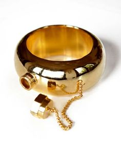 Gold Secret Flask Bangle. This is the best thing I've ever seen!