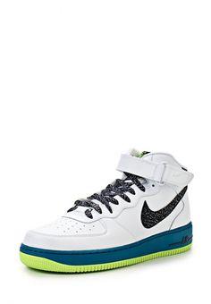Кроссовки Nike / Найк мужские. Цвет: белый, синий. Материал: натуральная кожа. Сезон: Весна-лето 2014. С бесплатной доставкой и примеркой на Lamoda. http://j.mp/1kkuSZD