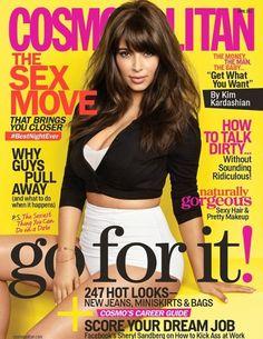 Kim Kardashian covers Cosmopolitan April 2013.