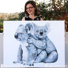 Koala giclee canvas print - Australian animal art, watercolour painting, limited edition reproduction. Instagram: @elizarose_art Facebook: @artofelizarose Art Watercolour, Australian Animals, Nursery Art, Canvas Prints, Facebook, The Originals, Artist, Fictional Characters, Instagram
